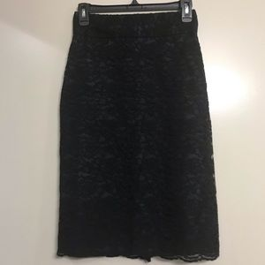 Banana Republic | Black Lace Pencil Skirt, 0